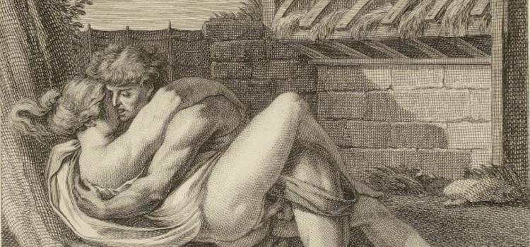 L'Arétin d'Augustin Carrache, ou Recueil de postures érotiques, d'après les gravures à l'eau-forte par cet artiste célèbre, avec le texte explicatif des sujets, la Nouvelle Cythère [i.e. Paris, Pierre Didot, 1798].
