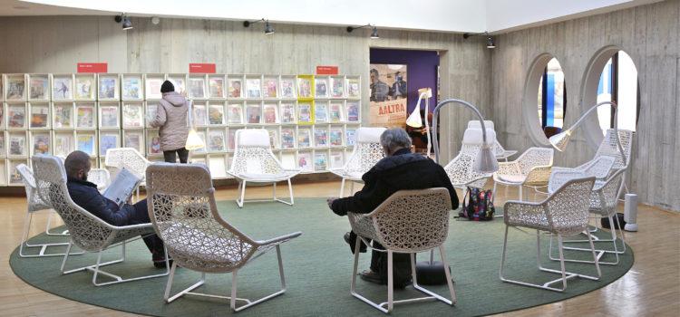 Photo de la Bibliohèque Niemeyer au Havre par aprim