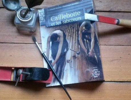 Montage photo de Frank Lanot avec le livre caillebotte et les raboteurs cahiers du temps