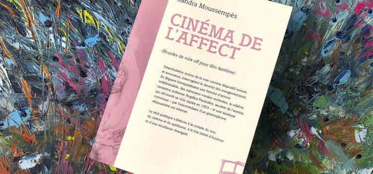 [Chronique] Cinéma de l'affect (Boucles de voix off pour film fantôme) de Sandra Moussempès