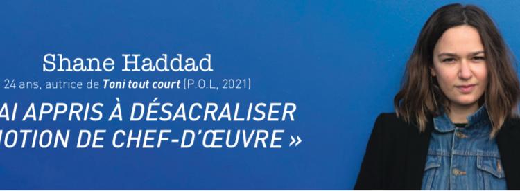 [Questions à…] Shane Haddad, autrice et diplômée du master Création littéraire du Havre